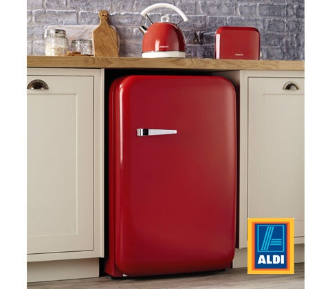 an Aldi Retro Under Counter Fridge  sweepstakes