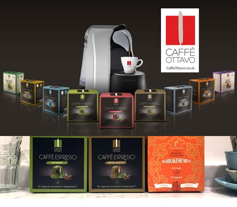 an Espressina coffee machine & Caffè Ottavo coffee pods  sweepstakes