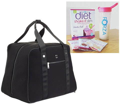 a Forza weight-loss goody bag & £150 Sweaty Betty voucher sweepstakes