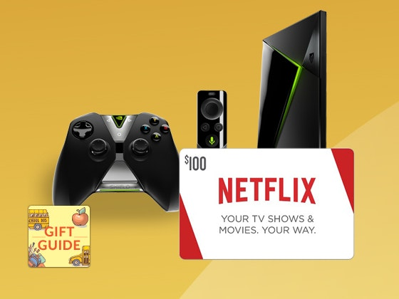 Netflix Gift Card and Shield Android Streaming Device-BTS Gift Guide sweepstakes