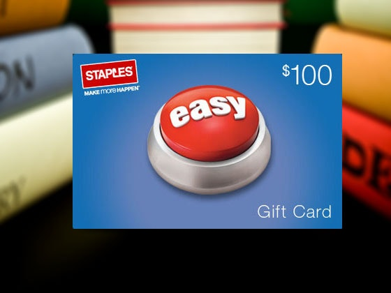 Staples Back to School Prize Package sweepstakes