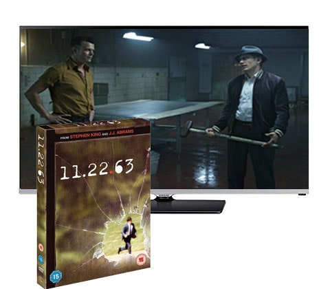 "a 32"" HD TV & a DVD box set of 11.22.63 sweepstakes"