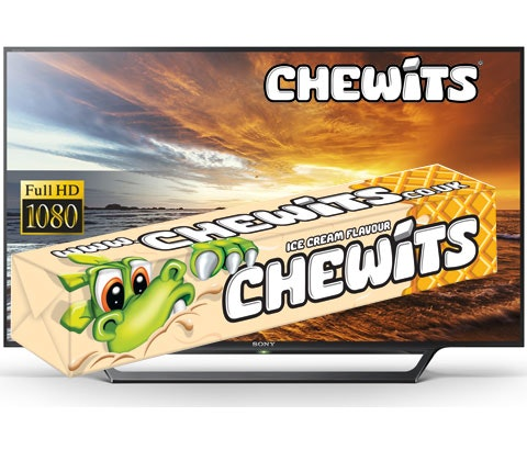a 40in Sony Bravia TV & Ice Cream Chewits sweepstakes