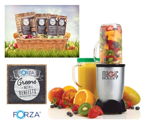 a Forza Greens with Benefits hamper & blender sweepstakes
