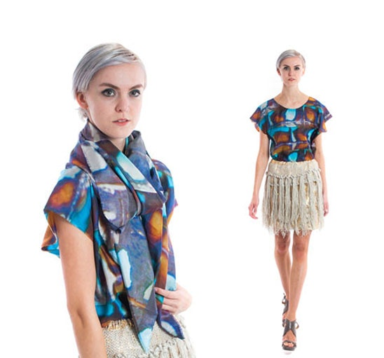 WIN CLAIRE ANDREW LUXURY SILK PRINT SCARF OR SILK PRINT TEE sweepstakes