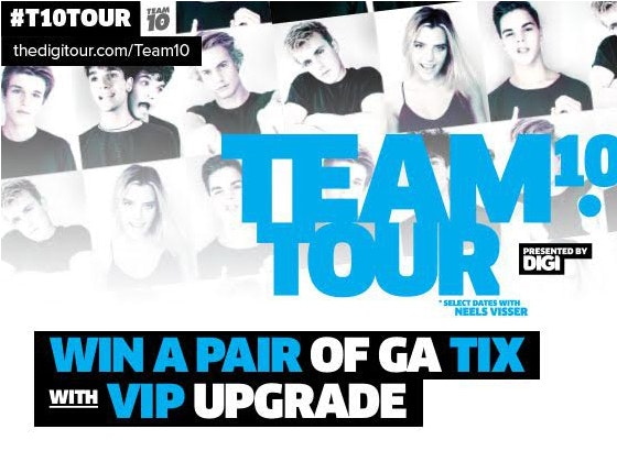 Digitour Concert tickets sweepstakes