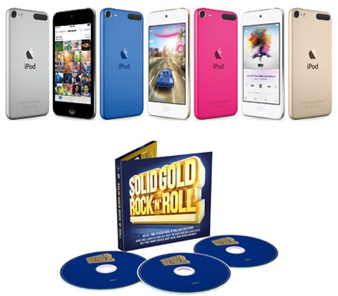 a 16GB Apple iPod Touch & signed CD sweepstakes