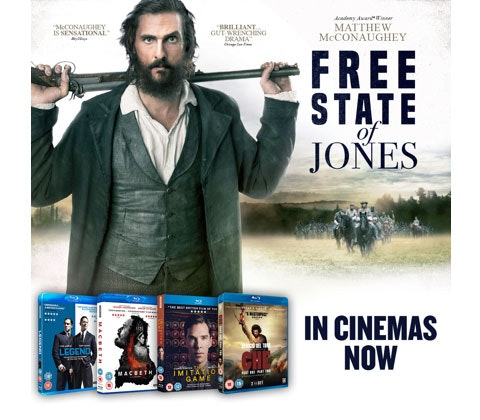 FREE STATE OF JONES prize bundle sweepstakes