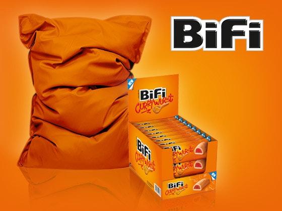BiFi Currywurst und Sitzsack gewinnen Gewinnspiel