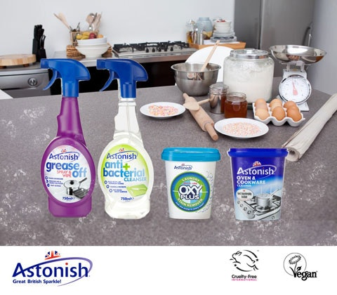 an ASTONISH kitchen cleaning set sweepstakes