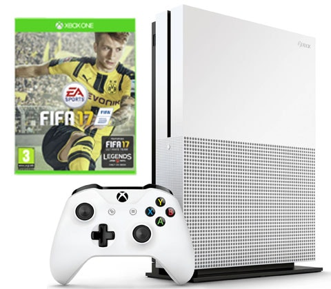 an Xbox One S console with FIFA 17 bundle sweepstakes