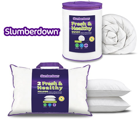 a bundle of Slumberdown Fresh & Healthy bedding sweepstakes