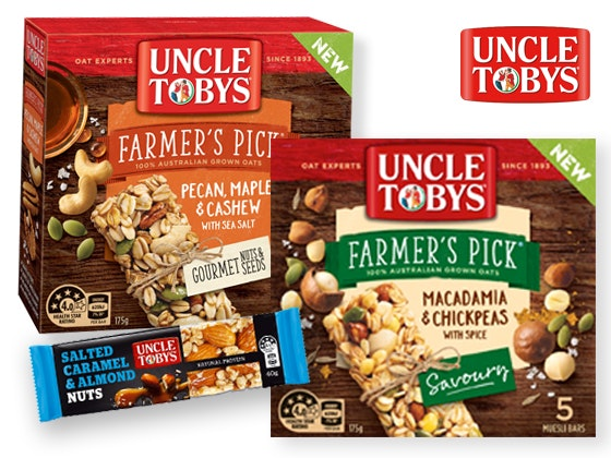 Uncle Tobys Muesli Bar Prize Pack sweepstakes