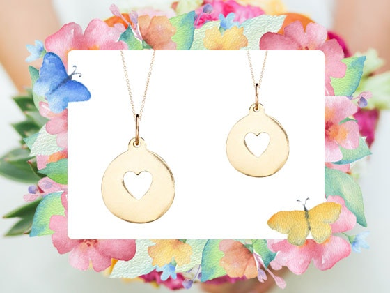 Helen ficalora heart necklace bridal giveaway