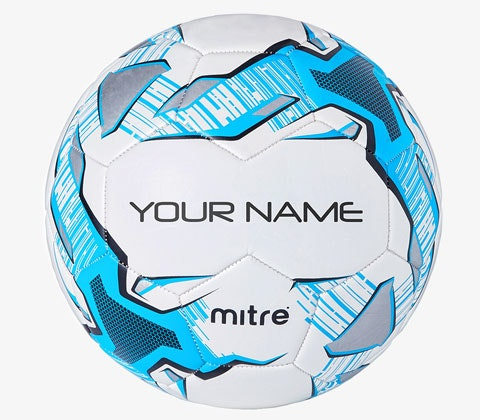 PERSONALISED MITRE BALL! sweepstakes