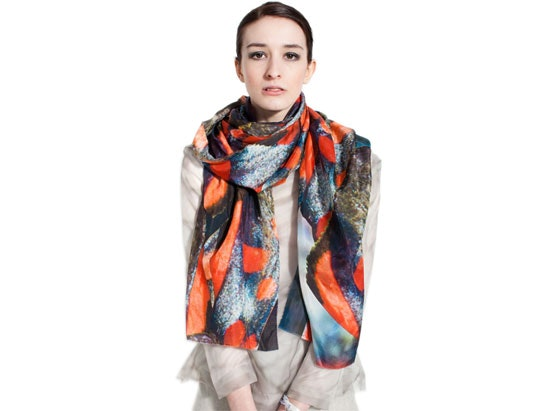 WIN CLAIRE ANDREW LUXURY SILK PRINT SCARF sweepstakes