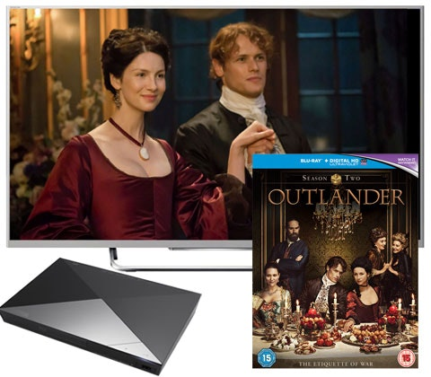 a 40 in TV, Blu-ray player & Outlander Season 2 sweepstakes