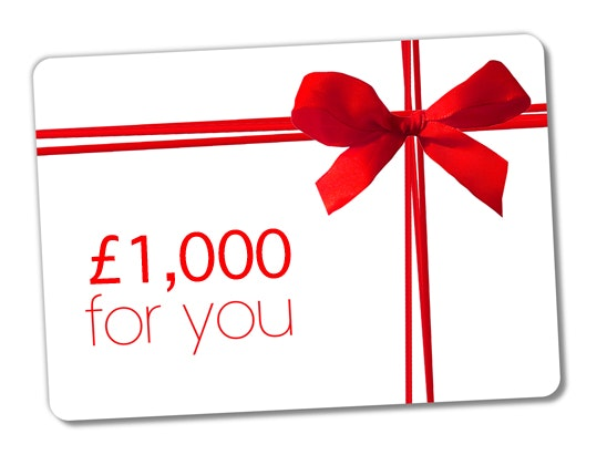 £1,000 Amazon voucher sweepstakes