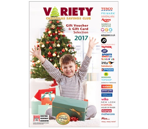 £500 in gift cards with Variety Christmas Savings Club sweepstakes