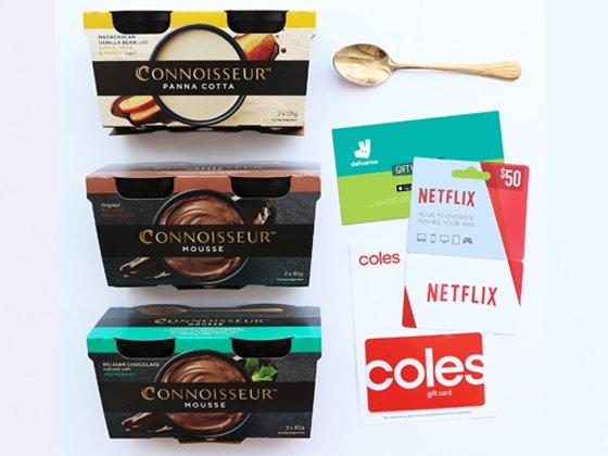 Connoisseur Dessert, Netflix Voucher & Deliveroo Voucher Prize sweepstakes