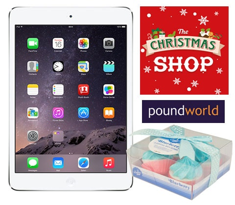 a iPad Mini 2 with Poundworld sweepstakes