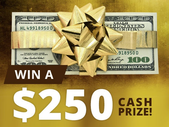 250 Cash Prize November sweepstakes