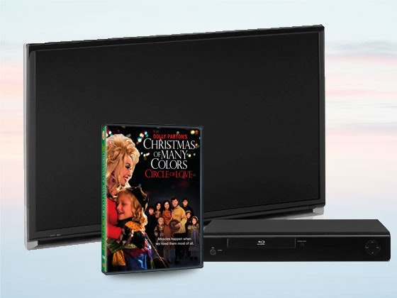 Dolly Parton's Christmas of Many Colors HDTV and Blu-ray Player sweepstakes