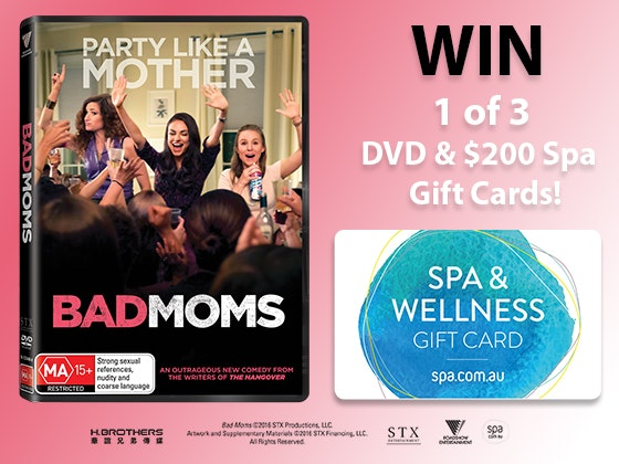Bad Moms & SPA.COM.AU Prizes Packs  sweepstakes