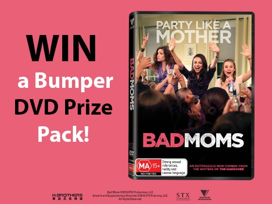 Bad Moms DVD Pack sweepstakes