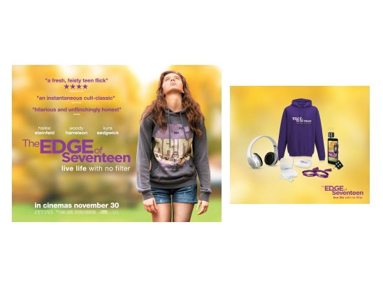 'THE EDGE OF SEVENTEEN' sweepstakes