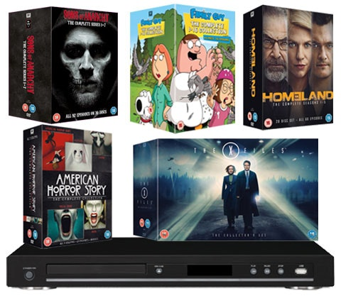 top TV box sets & a Blu-ray player sweepstakes
