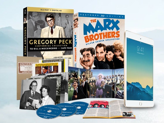 Gregory Peck and Marx Brothers Collections plus iPad Mini 2 sweepstakes