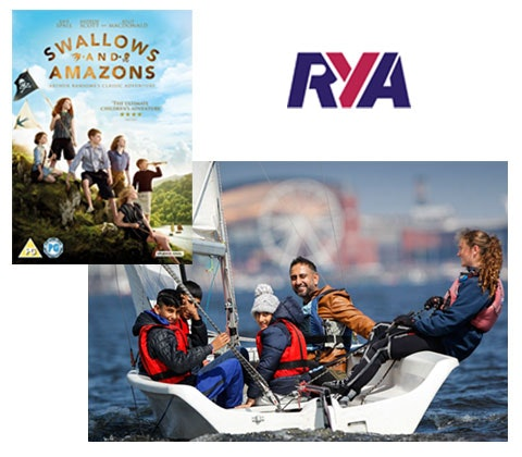 a Swallows & Amazons DVD, and Royal Yachting Association sailing courses for your family sweepstakes