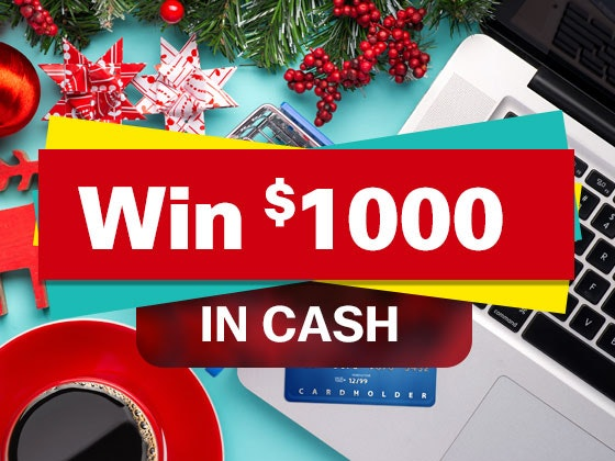 $1000 Cash December sweepstakes