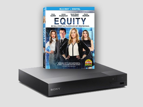 Equity and Blu-ray Player sweepstakes