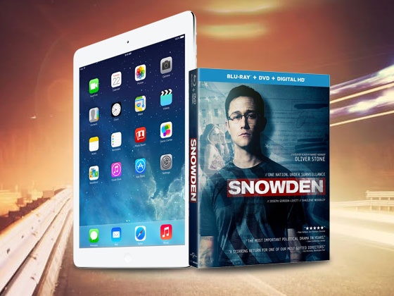 SNOWDEN and iPad Mini 2  sweepstakes