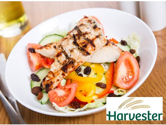 £100 fresh family meal at Harvester sweepstakes