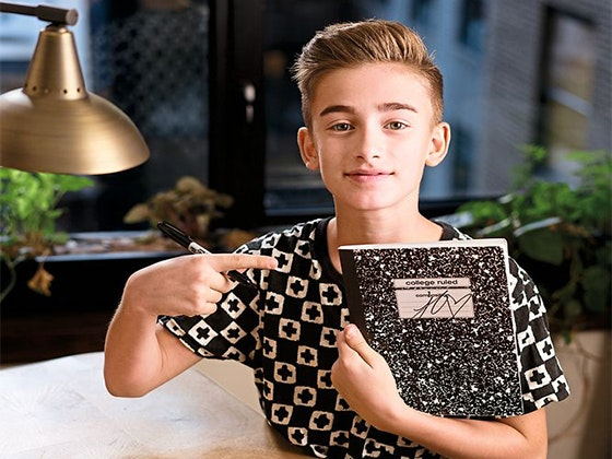 J-14: Johnny Orlando Notebook sweepstakes
