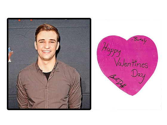 J-14: Burkely Duffield Signed Valentine sweepstakes