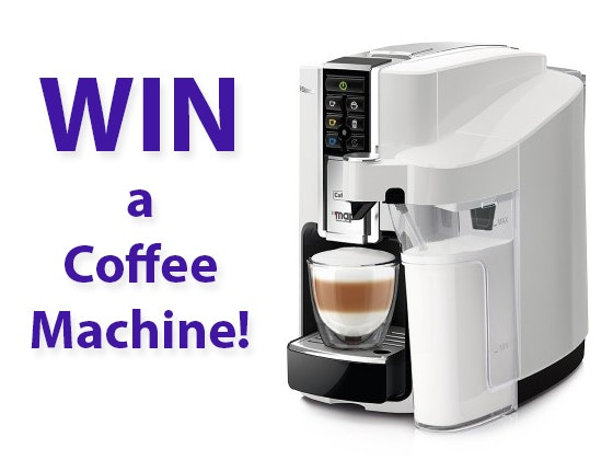 Saeco Bravista Latte Plus Caffitaly Coffee Capsule Machine (White) sweepstakes