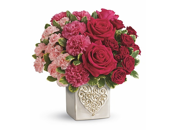 Teleflora Swirling Heart Bouquet sweepstakes