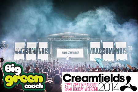 Creamfields tickets and coach travel sweepstakes