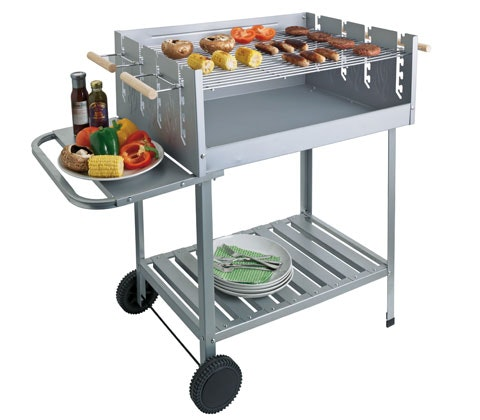 Deluxe Rectangle Steel Party Charcoal BBQ sweepstakes