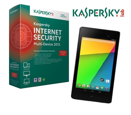 win a asus google nexus tablet and kaspersky internet. Black Bedroom Furniture Sets. Home Design Ideas