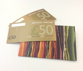 £100 John Lewis vouchers sweepstakes