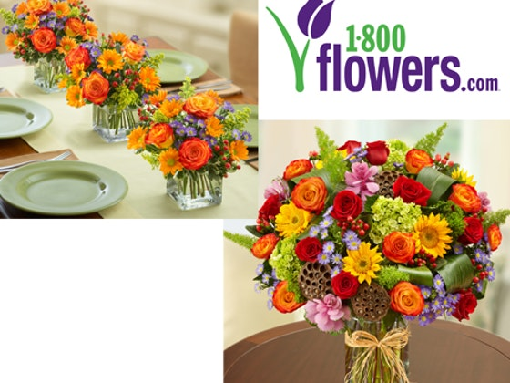 Win a flowers fall centerpiece bouquet in