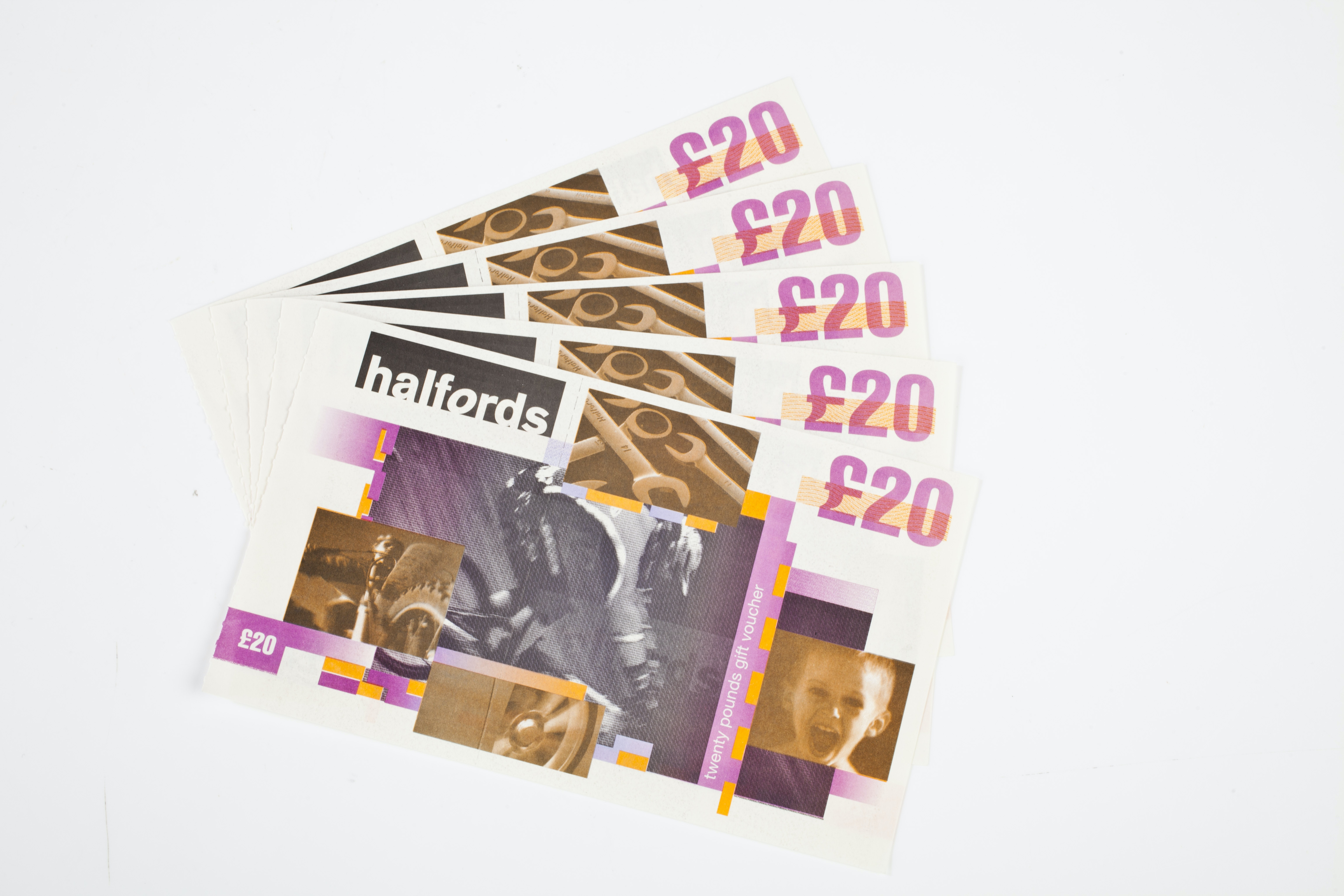 £100 of Halfords vouchers sweepstakes