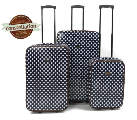 Win 4 x Blue Spot Constellation printed luggage sets sweepstakes